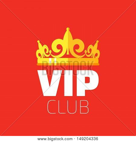 diadem vector flat style with long shadow. diadem logo. Vip club logo.