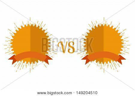 Versus Screen flat style. Stock vector. Vector illustration.