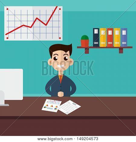 Tax inspector character. Stock vector. Vector illustration.