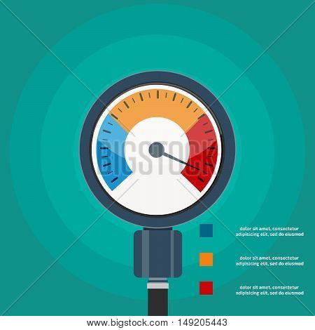 High blood pressure concept vector. Stock vector. Vector illustration.