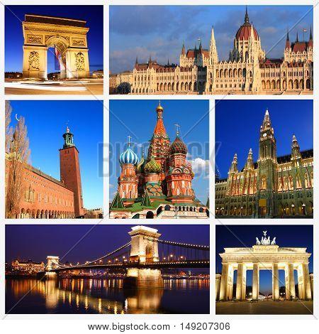 Impressions Of European Landmarks