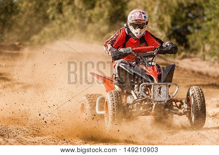 ATV Rider in the 4x4 quadbike race