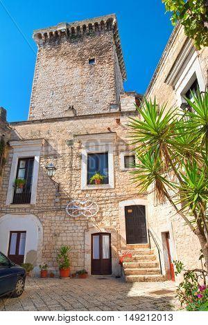 Image of Norman castle. Rutigliano. Puglia. Italy.