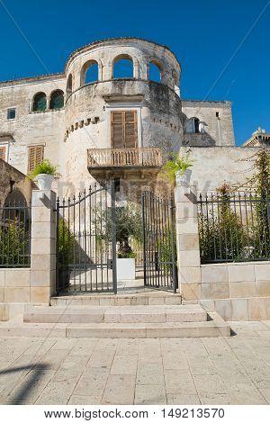 Image of Catapano palace. Rutigliano. Puglia. Italy.