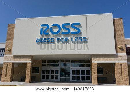 JACKSONVILLE, FLORIDA, USA - SEPTEMBER 20, 2016: A Ross Store in Jacksonville. Ross is an American chain of off-price department stores that operates 1,254 locations in 33 U.S. states.