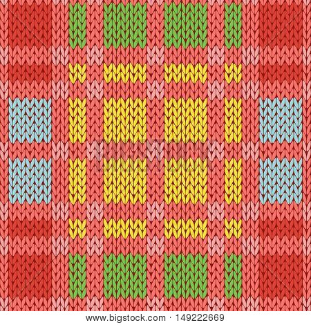 Knitting Seamless Pattern In Various Colors