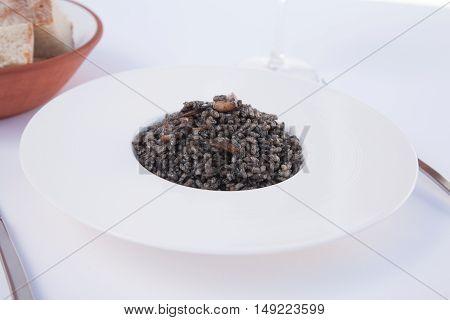 Black Ink Squid Rice Dish