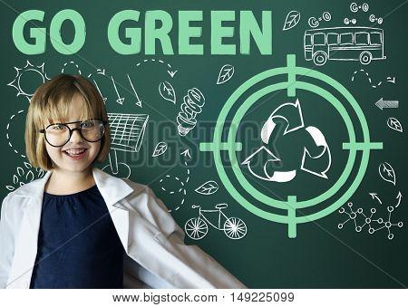 Go Green Reuse Sun Bus Arrow Concept