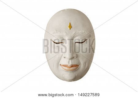 The single mask is used to perform on stage white background included clipping path