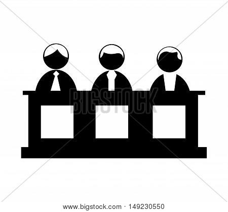 jury people isolated icon vector illustration design