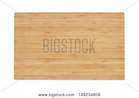 blank block or wooden cutting board for food preparation in the kitchen or top view wood table for work isolated included clipping path