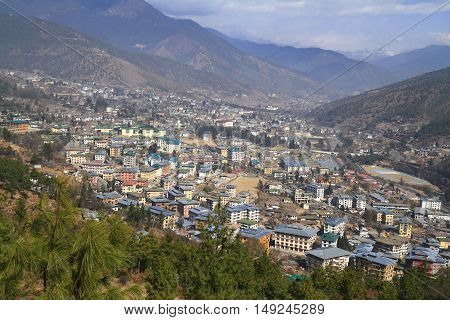 The City Of Thimphu, Bhutan