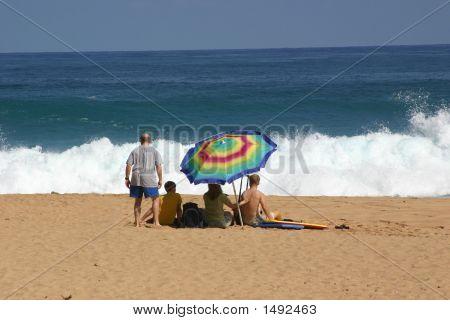 At The Beach In Kauai