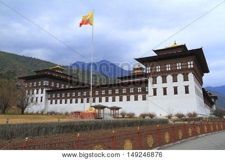 Tashichho Dzong In Thimphu