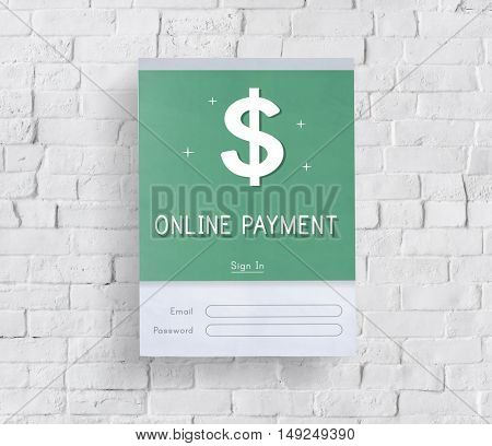 Online Payment Accounting Financial Concept