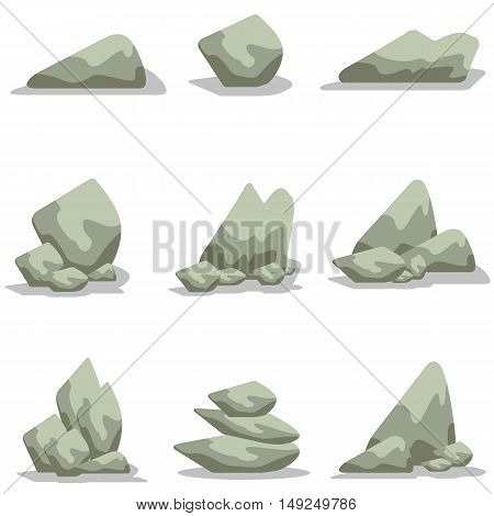 Vector art of stone style collection stock