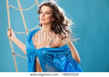 Young Woman Near The Shrouds