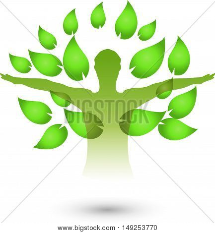 Human, Fitness, Health, Naturopaths, leaves, logo, life
