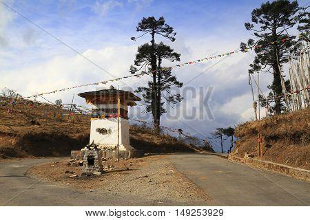 Stupa On Wangdue Phodrang Pass