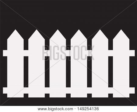 fence icon. fence icon object. white fence icon