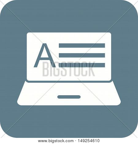 Exam, grade, online icon vector image. Can also be used for E Learning. Suitable for mobile apps, web apps and print media.