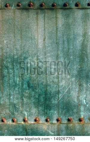 Oxidized copper plate surface texture abstract corroded metal background
