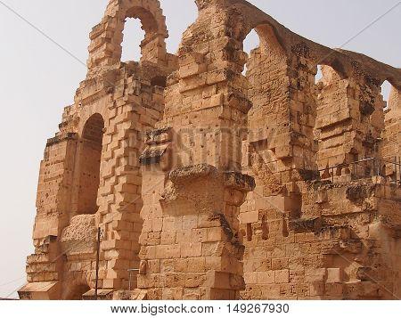Mark Anthony Gordian's amphitheater in El Djem in Tunisia