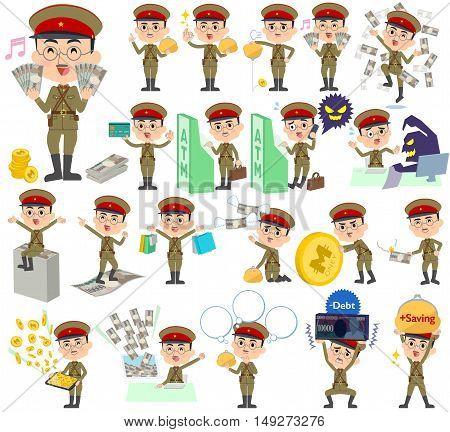 Military Wear Japan Style Man Money