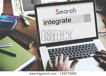 Integrate Merging Blend Combine Concept