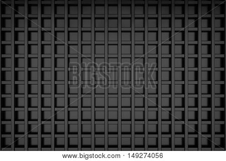 square line grid background metal matrial 3d rendering