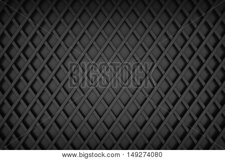 diamond line grid background metal matrial 3d rendering
