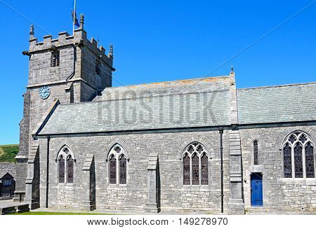 View St Edwards church in the village centre Corfe Dorset England UK Western Europe.