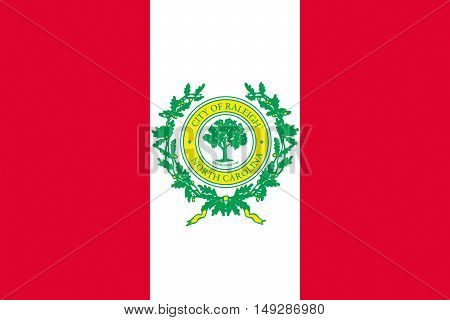 Flag of Raleigh is the capital of the state of North Carolina United States