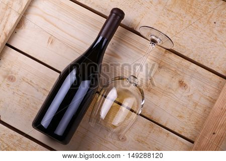 White Wine On Wood