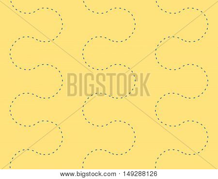 Endless Dot Path Seamless Decorative Pattern Background