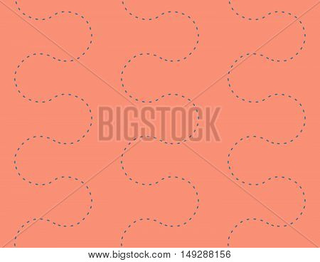 Endless Dots Path Seamless Decorative Pattern Background