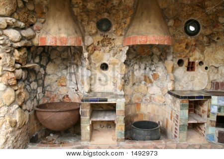 Rustic Old Outdoor Kitchen
