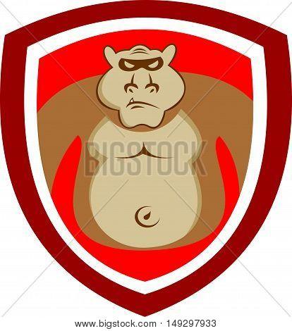 stock logo big gorilla on red shield