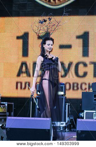 St. Petersburg, Russia - 12 August, She will parade across the stage,12 August 2016. Beauty contest