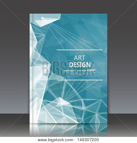 Abstract Composition, Asteroid Icon, Turquoise Sky Theme, A4 Brochure Title Sheet, Alien Space Backd