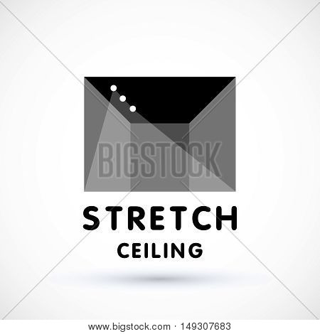 Stretch ceiling logo concept geometric symbol suspended ceiling