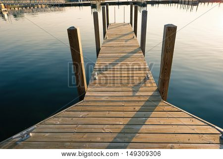 Marina on Lake Huron at Port Austin, MI, USA