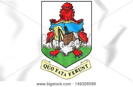 Bermuda coat of arms. 3D Illustration. Close Up.