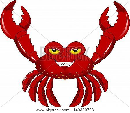 funny cartoon crab for you design vector