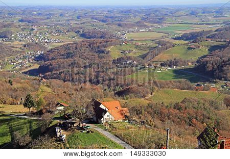 Slovenian Countryside Nearly City Maribor
