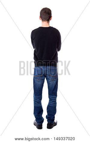 Back View Of Full Length Man Isolated On White