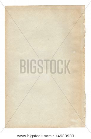 Old paper texture.Antique background scroll for text on white poster