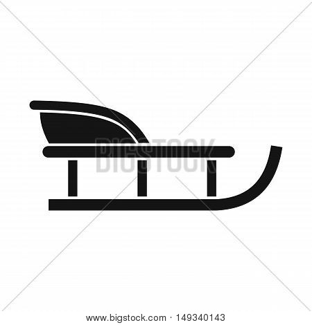 Sled icon in simple style on a white background vector illustration