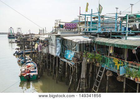 HONG KONG, CHINA - SEP. 17, 2016: Tai O Fishing Village of Lantau Island in Hong Kong, China.