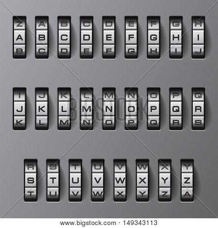 Code lock. The entire alphabet and all combinations of options